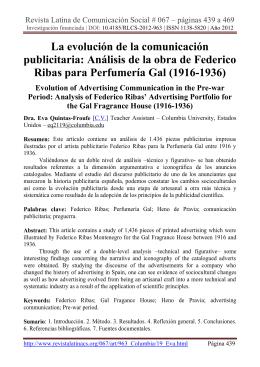 Análisis de la obra de Federico Ribas para Perfumería Gal
