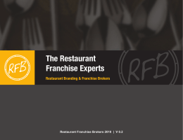 The Restaurant Franchise Experts - RFB