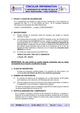 CIRCULAR INFORMATIVA - Ajuntament de les Franqueses del Vallès