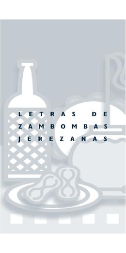 Letras villancicos zambombas jerezanas