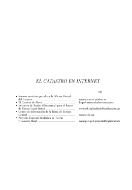 EL CATASTRO EN INTERNET