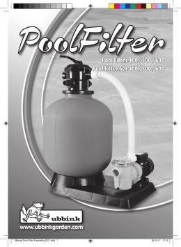 Pool Filter 400 / 500 / 600 Pool Filter Set 400 / 500 / 600