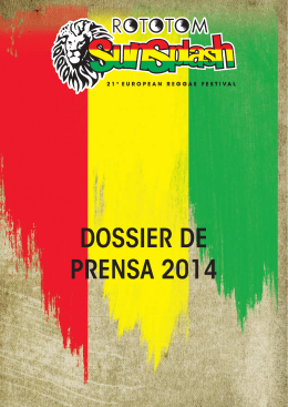 2014 Press kit - Rototom Sunsplash