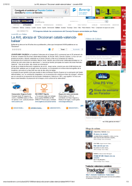 La AVL abraza el ´Diccionari català-valencià