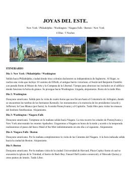 JOYAS DEL ESTE. - EuroAmericanTravel