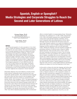 Spanish, English or Spanglish? - International Journal of Hispanic