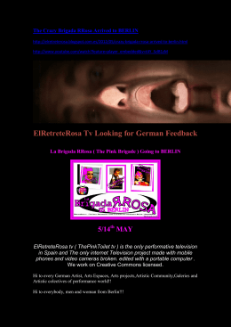 ElRetreteRosa Tv Looking for German Feedback