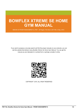 bowflex xtreme se home gym manual from7-bxshgmpdf-0