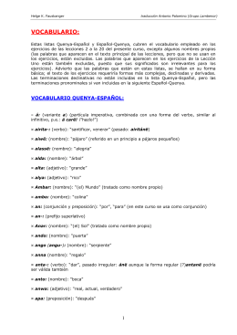 Descarga del vocabulario empleado en los ejercicios