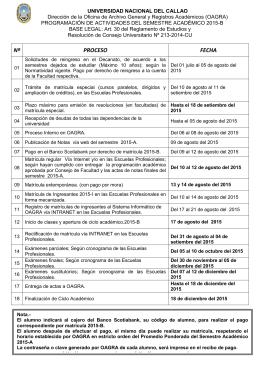 Nº PROCESO FECHA http://oagra.unac.edu.pe y http:// www.unac