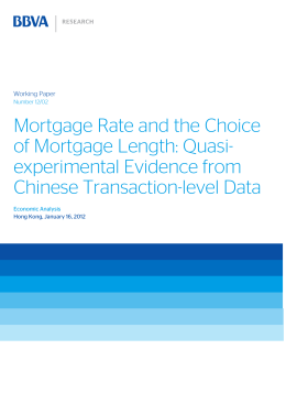 Mortgage Rate and the Choice of Mortgage