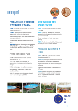 Piscinas Gre de madera Nature Pool