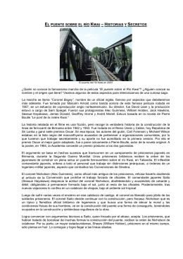 El puente sobre el río Kwai – Historias y Secretos