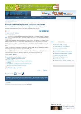 2012/04/09 Semana Santa concluye con 68 accidentes en Tijuana