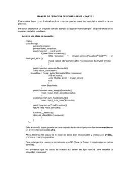 MANUAL DE CREACION DE FORMULARIOS – PARTE 1