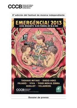 5ª edición del festival de música independiente Dossier de