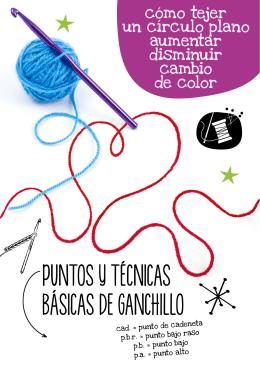 PUNTOS Y TÉCNICAS BÁSICAS DE GANCHILLO