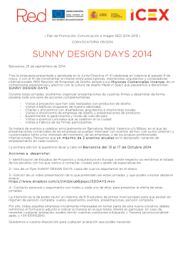 Convocatoria Sunny Design Days Barcelona 2014 Act7[12]