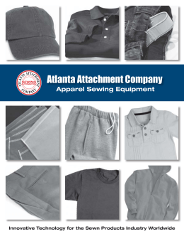 Apparel Sewing Equipment, Automation Machines, Attachments