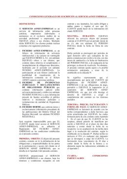 Condiciones Generales Asnef-Empresas