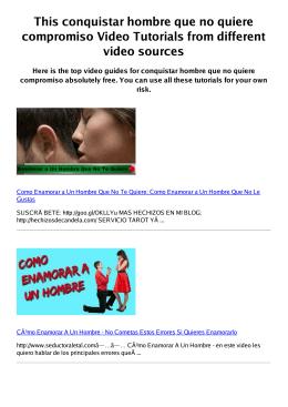 #Z conquistar hombre que no quiere compromiso PDF