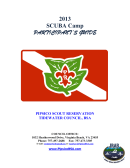 13 SCUBA Guide - Pipsico Scout Reservation