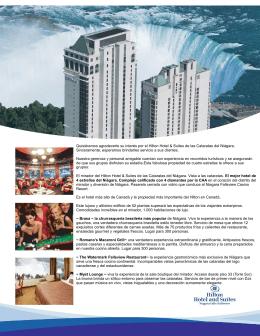 Quisiéramos agradecerle su interés por el Hilton Hotel & Suites de