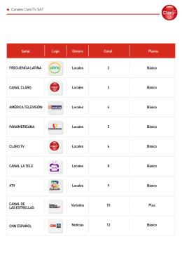Canales ClaroTV SAT 2 FINAL