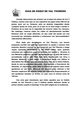 GUIA DE ESQUÍ DE VAL THORENS