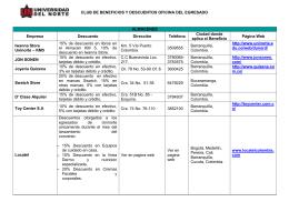 CLUB DE BENEFICIOS Y DESCUENTOS OFICINA DEL