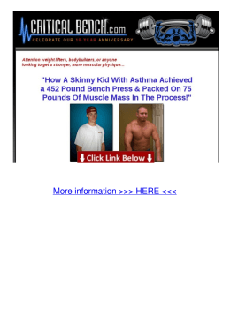 Website Increase Bench Press Program from Critical Bench Yk5r
