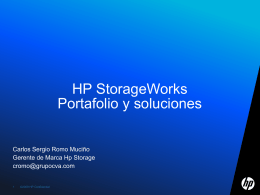HP StorageWorks Product and Solution categories