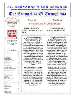 The Evangelist-El Evangelista - SBECG.ORG