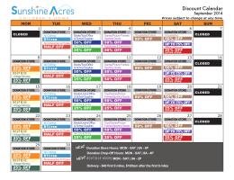 Discount Calendar