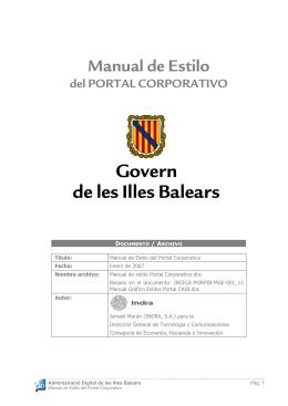 Manual de Estilo - Govern de les Illes Balears