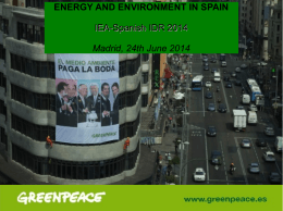 ENERGY AND ENVIRONMENT IN SPAIN IEA