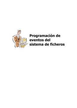 Programación de eventos del sistema de ficheros