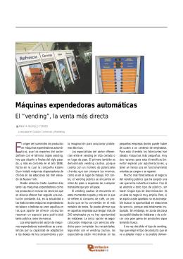 """Máquinas expendedoras automáticas: El"""" vending"""", la venta más"""