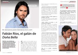 Fabián Ríos, el galán de Doña Bella