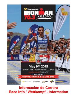 Información de Carrera Race Info / Wettkampf - Information