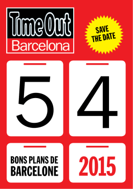 SAVE THE DATE - Turisme de Barcelona