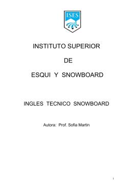 Inglés Técnico - Snowboard