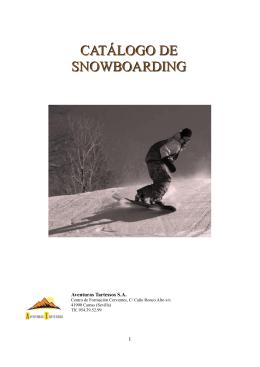 CATÁLOGO DE SNOWBOARDING