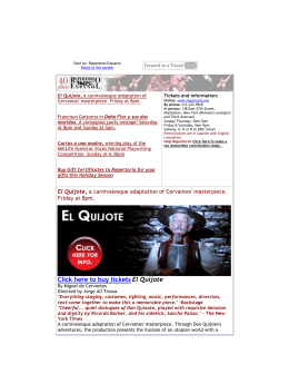 Click here to buy tickets El Quijote