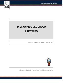 (paulovich) diccionario del cholo ilustrado