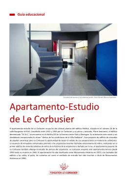 Planta del apartamento-estudio de Le Corbusier