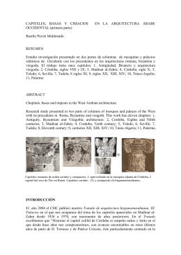 CAPITELES, BASAS Y CIMACIOS EN LA ARQUITECTURA ÁRABE