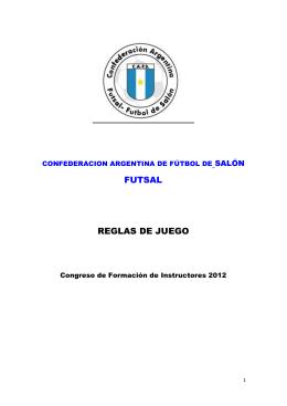 REGLAMENTO DE JUEGO - morava fútbol de salón