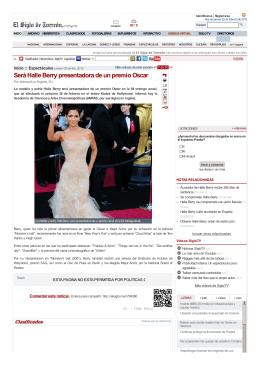 Será Halle Berry presentadora de un premio Oscar