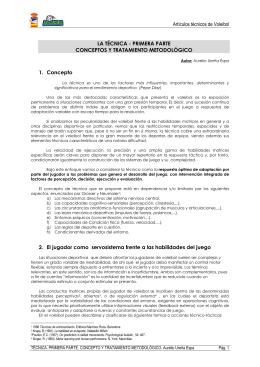 Artículos técnicos de Voleibol LA TÉCNICA
